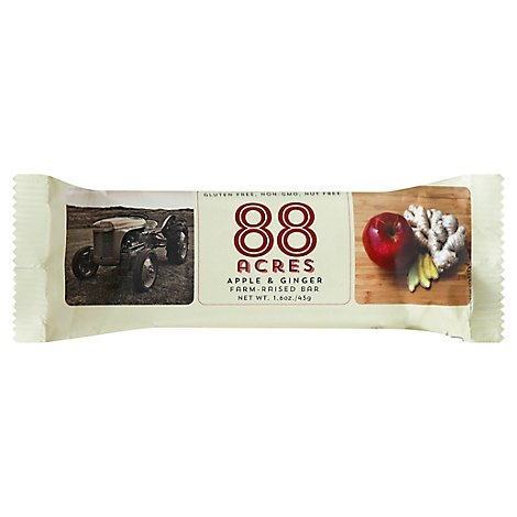 88 Acres Bar Snack Apple Ginger - 1.6 OZ