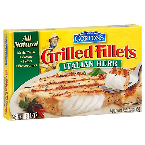 Gortons Fish Fillets Italian Herb Grilled - 7.6 OZ