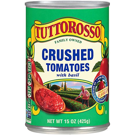 Tuttorosso Green Crushed Tomatoes With Basil - 15 OZ