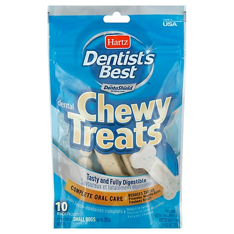 Hartz Dentist Best Dog Chewy Treat - 10 Count