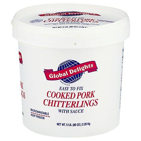 Chitterlings Frozen Cooked - 5 LB