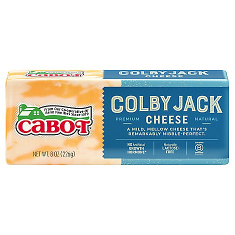 Cabot Creamery Colby Jk Chse Bar - 8 OZ