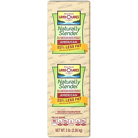 Land O Lakes Natural Slender American Cheese - 0.5 Lb