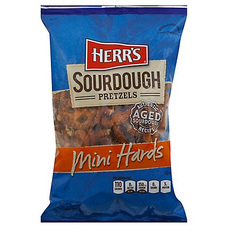 Herrs Mini Sourdough Hard Pretzels - 16 OZ