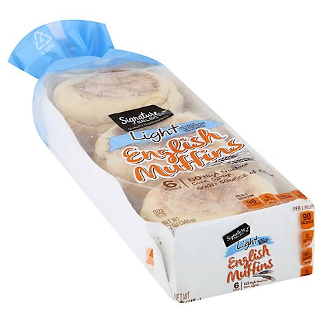 Signature Select Light English Muffins - 12 OZ