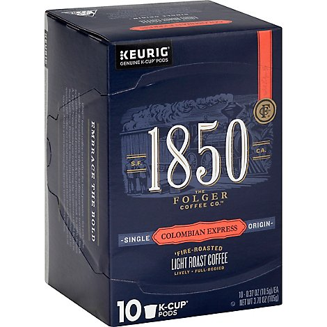 Folgers 1850 Colombian Coffee Kcup - 10 CT