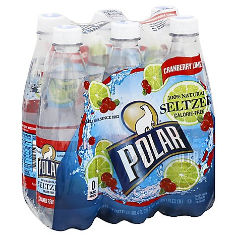 Polar Seltzer Cranberry Lime - 6-16.9 FZ