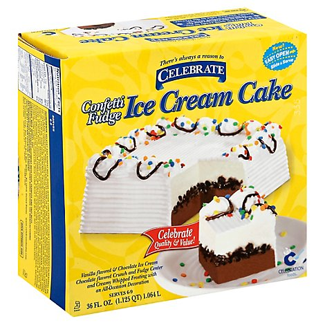 Carvel Confetti Fudge Ice Cream Cake - 36 FZ