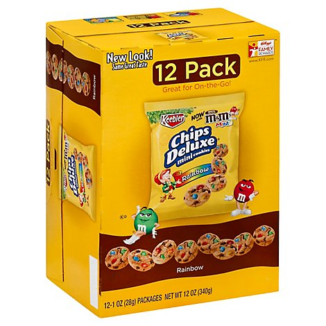 Keebler Caddies Cookies Chips Deluxe Rainbow Mini - 12 OZ