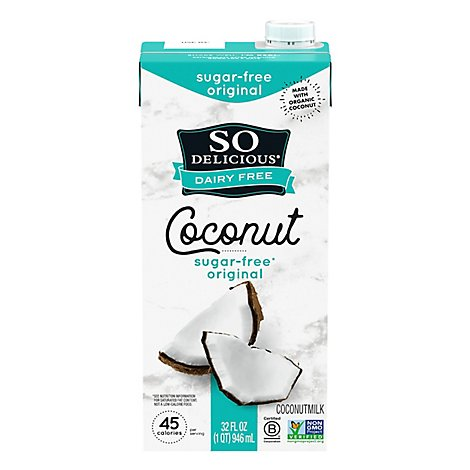 So Delicious Milk Coconut Original Dairy Free Unsweetened - 32 Fl. Oz.