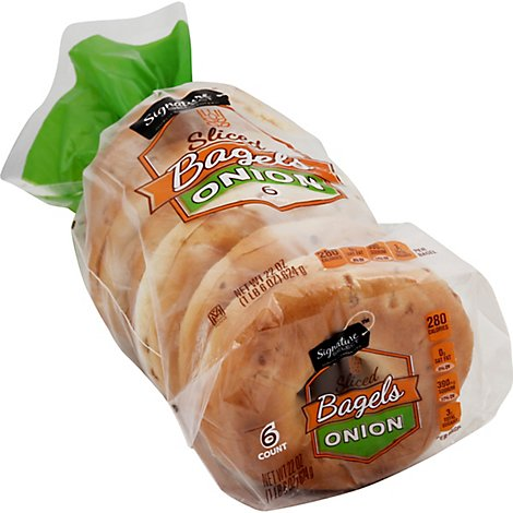 Signature Select Onion Bagels - 22 OZ