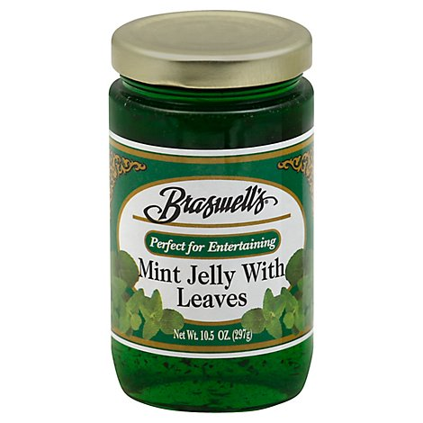 Braswell Jelly Mint W Leaves - 10.5 OZ