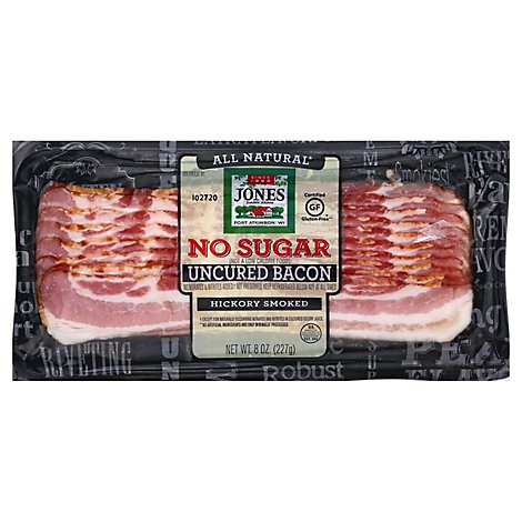 Jones No Sugar Hickory Bacon Regular Slice - 8 OZ