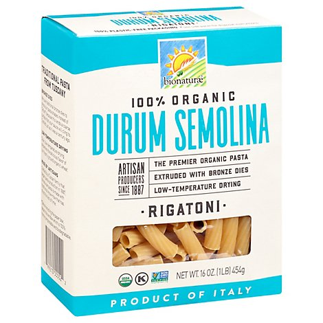 Bionaturae Pasta Rigatoni Or - 16 OZ