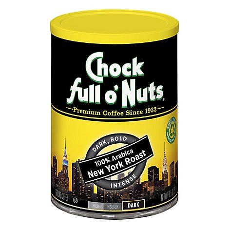 Chock Full O'nuts Coffee New York Roast - 10.5 OZ
