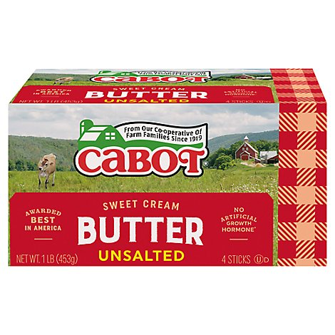 Cabot Unsalted Butter - 16 OZ