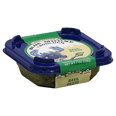 Blue Moose Of Boulder Pesto Basil - 7 OZ