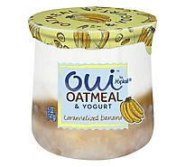 Oui By Yoplait Caramelized Banana Yogurt & Oatmeal - 5 OZ