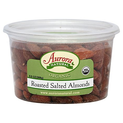 Aurora Org Almonds Salted - 9.5 OZ