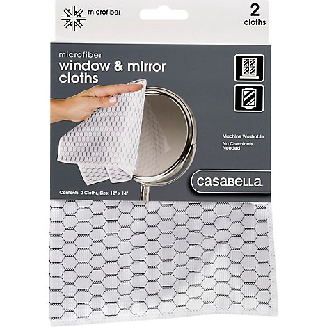 Casabella Cloth Dusting Mirco Hnycmb - 2 CT