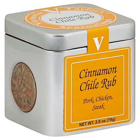 Victoria Taylors Rub Cinnamon Chile - 2.8 OZ