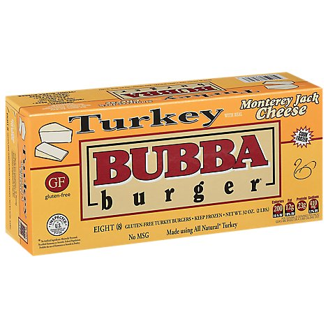 Bubba Burger Turkey With Monterey Jack - 2 LB