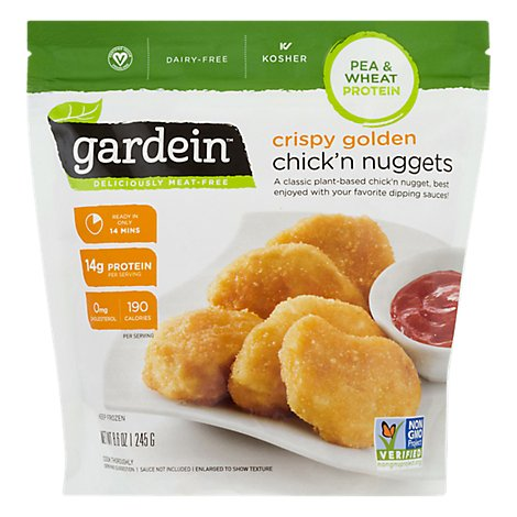 Gardein Crispy Golden Plant-based Chickn Nuggets, Vegan, Frozen - 8.6 OZ
