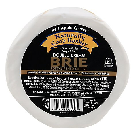 Red Apple Cheese Brie Double Cream Soft Ripened - 7 Oz