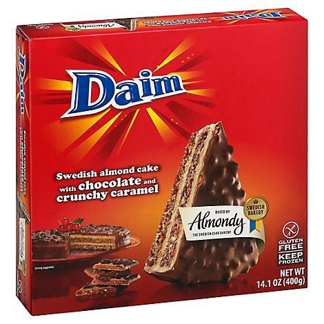 Daim Chocolate Swedish Gluten Free Almond Cake - 14.1 OZ