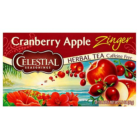 Celestial Seasoning Tea Herbal Cranberry Apple Zinger - 20 Count