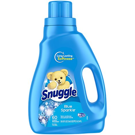 Snuggle 60 Load Blue Sparkle Concentrated Fabric Softener - 50 FZ
