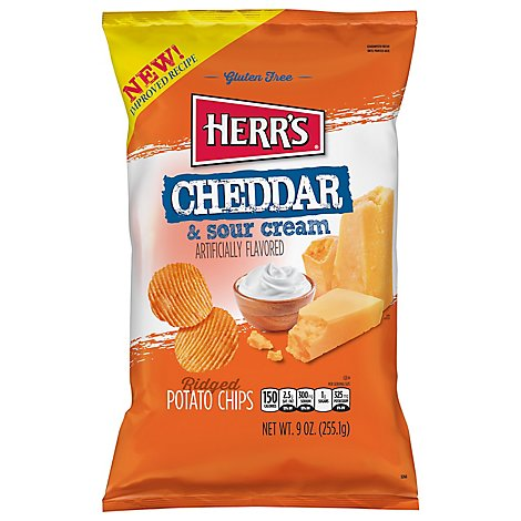 Cheddar & Sour Cream Ridge Potato Chips - 9 OZ