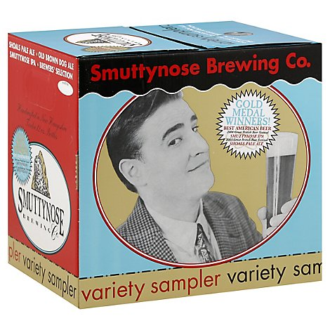 Smuttynose Sampler Astd Beer 12 Count Long Neck Bottles - 12-12 FZ
