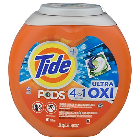 Tide Ultra Liquid Laundry Detergent Pods With Oxi - 61 CT