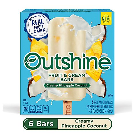 Outshine Pineapple Coconut Cream Bar - 14.7 FZ