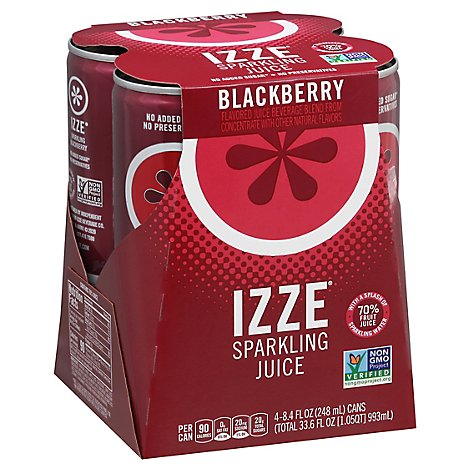 Izze Fortified Sparkling Blackberry Juice - 4-8.4 FZ