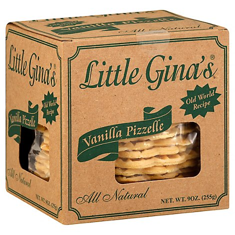 Little Ginas Vanilla Pizzelle Cookie - 9 OZ