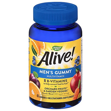 Alive Mens Gummy Vit - 60 CT