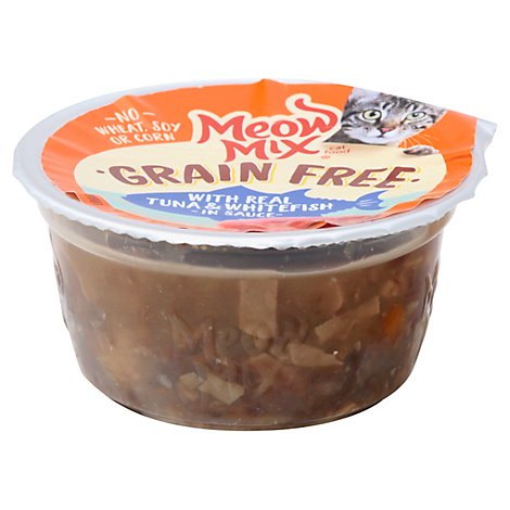 Meow Mix Gf W/ Real Tuna And Whitefish In Sauce - 2.75 OZ