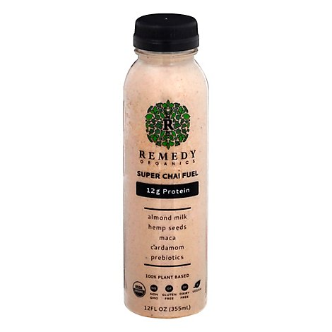 Remedy Organics Super Chai Fuel Protein Drink - 12 Fl. Oz.