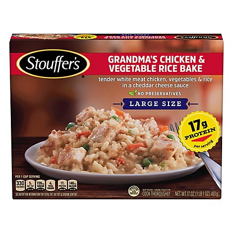 Stouffers Grandmas Chicken & Vegetable Rice Bake - 17 OZ