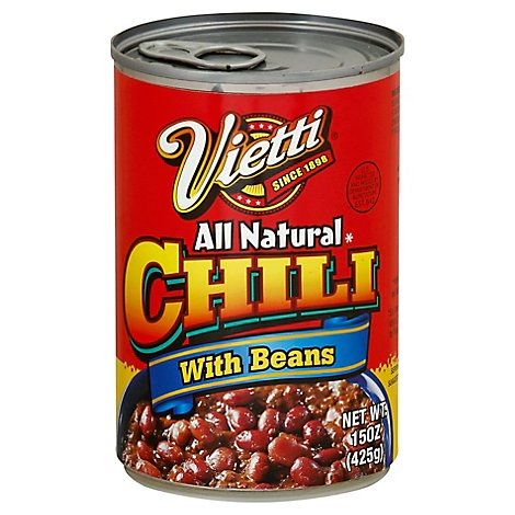 Vitti All Natural Chili With Beans - 15 OZ