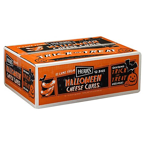 Herrs 42 Count Halloween Cheese Curls Case - 21 OZ