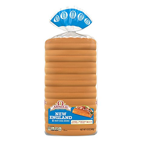 Arnold Select New England Hot Dog Rolls - 12 OZ