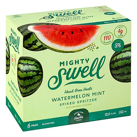 Mighty Swell Watermelon Mint Spiked Spritzer - 6-12 FZ