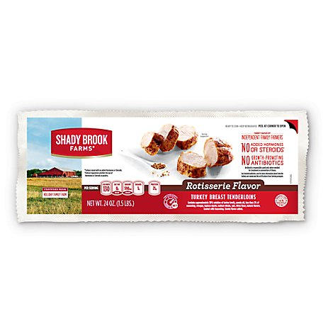 Shady Brook Farms Turkey Breast Tenderloins Rotisserie Flavor - 24 Oz