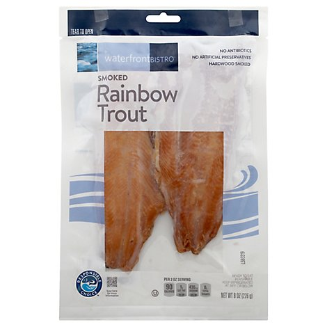 Waterfront Bistro Rainbow Trout Hot Smoked - 8 OZ