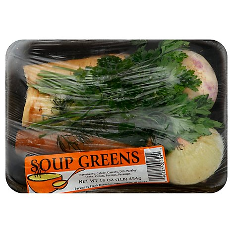 Top Crop Soup Stew Greens - 14 OZ