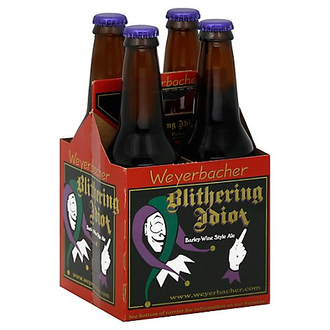 Weyerbacher Blithering Idiot Barley Wine Ale 4 Count Long Neck Bottles - 4-12 FZ