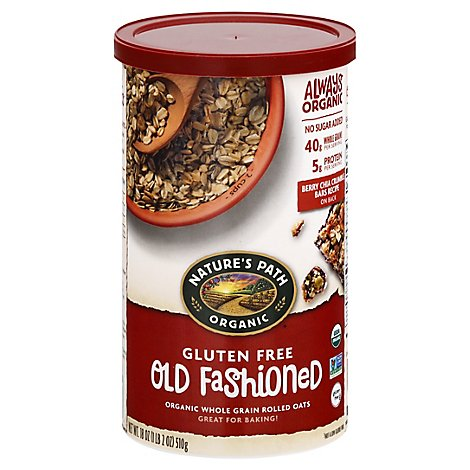 Natures Path Organic Oatmeal Oven Toasted Old Fashioned - 18 Oz